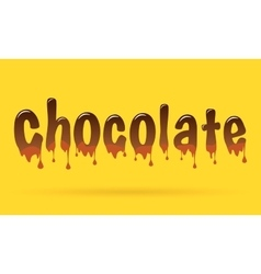 Abstract Creative concept chocolate text vector image