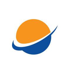 Abstract globe arrow business logo vector
