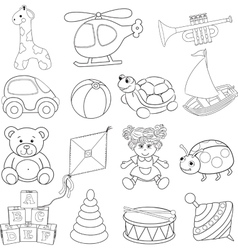 Babys toys set vector image