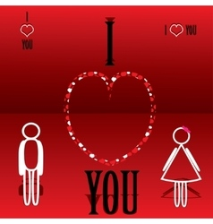 Background Valentines Day vector image