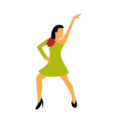 Best dance flat sign vector