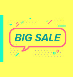 big sale in design banner template for web vector image