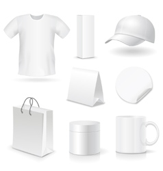 Blank business corporate identity templates gifts vector image
