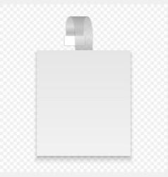 blank wobbler vector image
