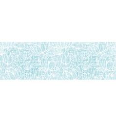 Blue lace flowers textile horizontal border vector image