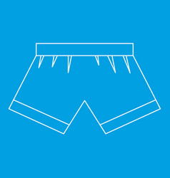 Boxer briefs icon outline style vector