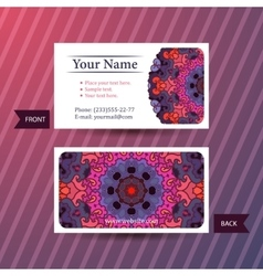Business card with colorful ornament vector