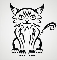 Cat Tattoo Design vector image