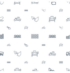 cement icons pattern seamless white background vector image