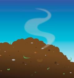 Compost heap manure vector
