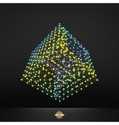Cube molecular lattice connection structure vector
