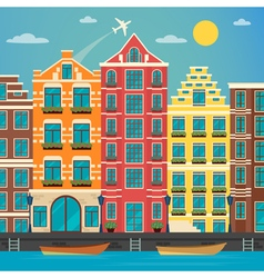 European City Urban Scene European Architecture vector image