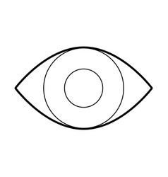 eye human isolated icon vector image