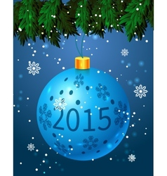 Festive Christmas toy vector image