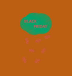 Flat shading style icon black friday discounts vector