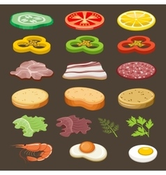 Food slices for sandwiches Snack vector
