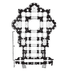Ground-plan of st peters rome his example vector