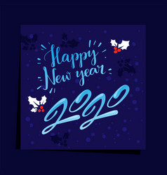 Happy new year 2020 christmas holidays card vector