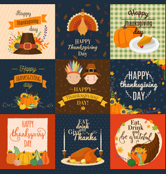 Happy thanksgiving decoration lettering vector