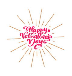 Happy valentines day typography poster with vector