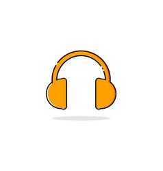 headphone mbe style logo vector image