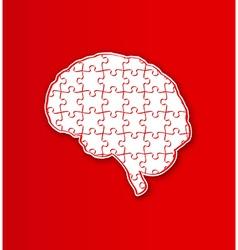 Human puzzle brain vector