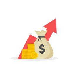 income increase strategy financial high return on vector image