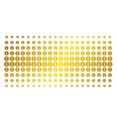 Info gold halftone effect vector