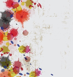 ink splatter on grunge wall vector image