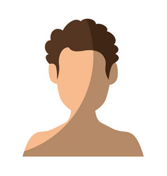 Isolated man face vector