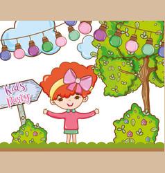 Kids party cartoons vector