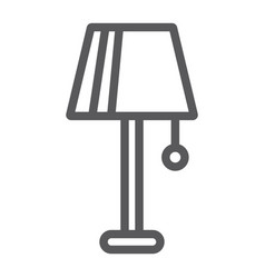 lamp line icon furniture and electric light sign vector image