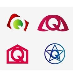 Letter Q logo icon design template elements set vector