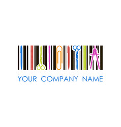 logo for stationery shop or company vector image
