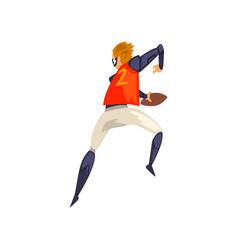 man in futuristic sports uniform and glasses vector image