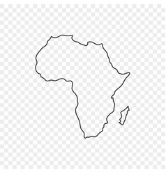 map africa icon in line style on trasparent vector image
