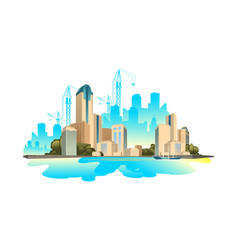 modern buildings cityscape vector image