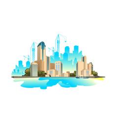 Modern buildings cityscape vector