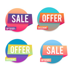 modern geometric gradient sale banners vector image