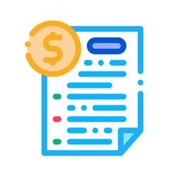 Monetary agreement icon outline vector