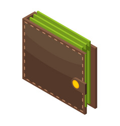 money wallet icon isometric style vector image