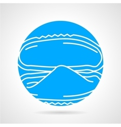 Mussel abstract round icon vector image