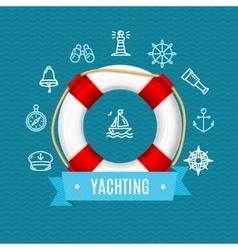 Nautical sea yachting concept vector