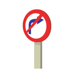 No Right Turn Traffic Road Sign vector image
