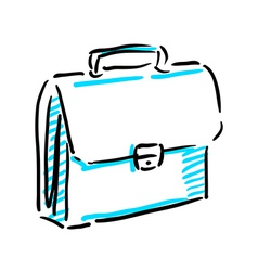 Office bag sketch vector image