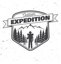 Outdoor expedition badge vector