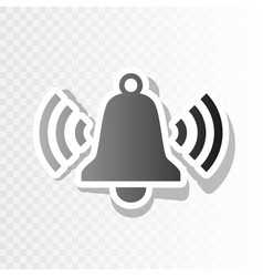 Ringing bell icon new year blackish icon vector
