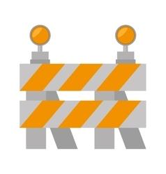 road barrier stop warning light vector image