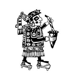 Shaman tribe makes ritual vector