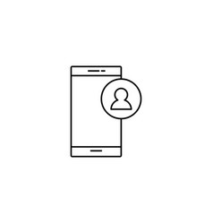 smartphone contact icon vector image